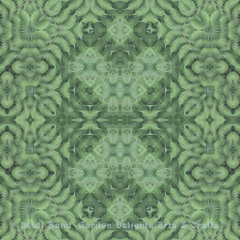 Green fern inverse
