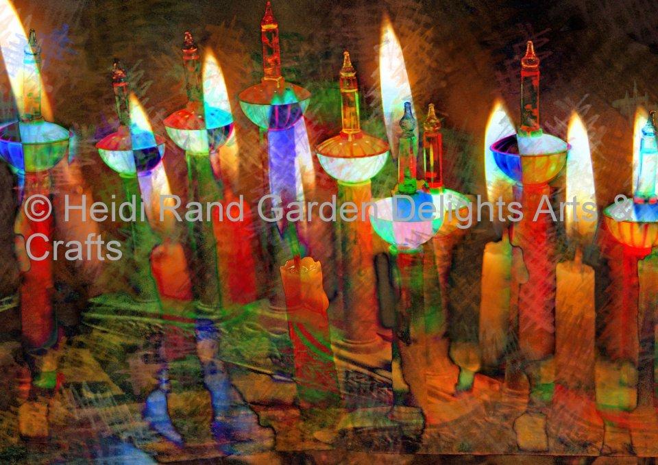 Happly holiday candles. Greeting card 1311