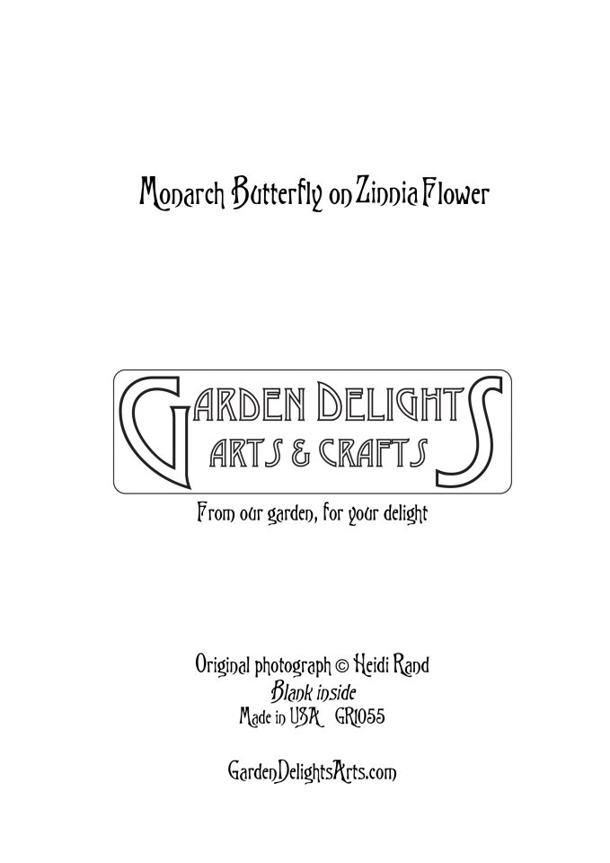 Example of the back of greeting cards