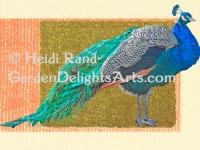 Peacock on Joss Paper GR1019