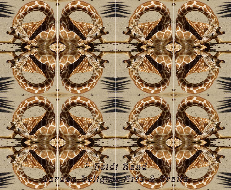 Giraffes kaleidoscope