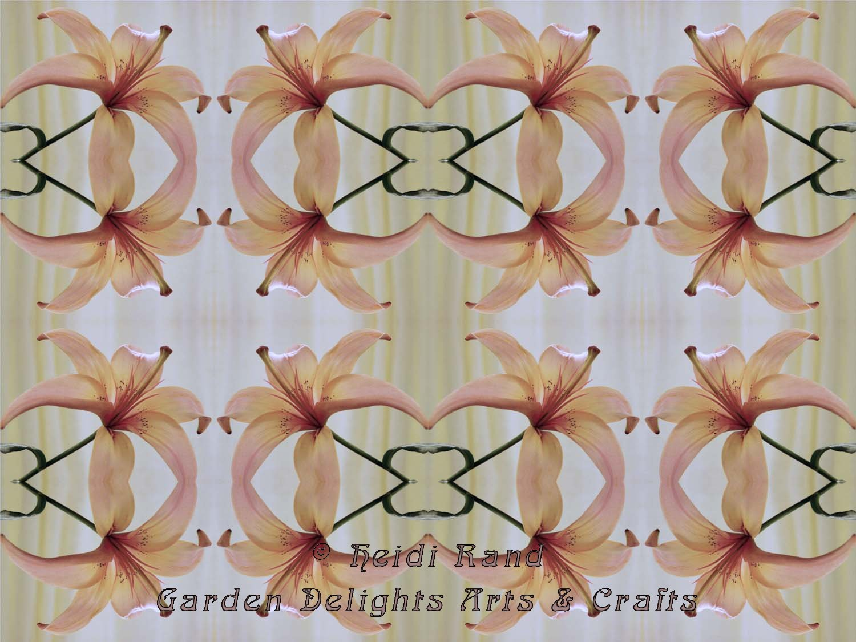 Peach lily kaleidoscope