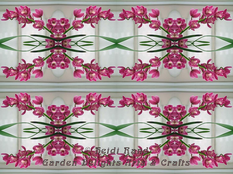 Pink cymbidium chain kaleidoscope