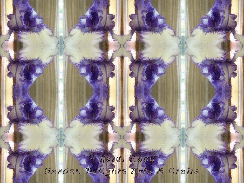 Purple and white iris kaleidoscope