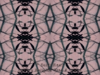 Pink arching kaleidoscope