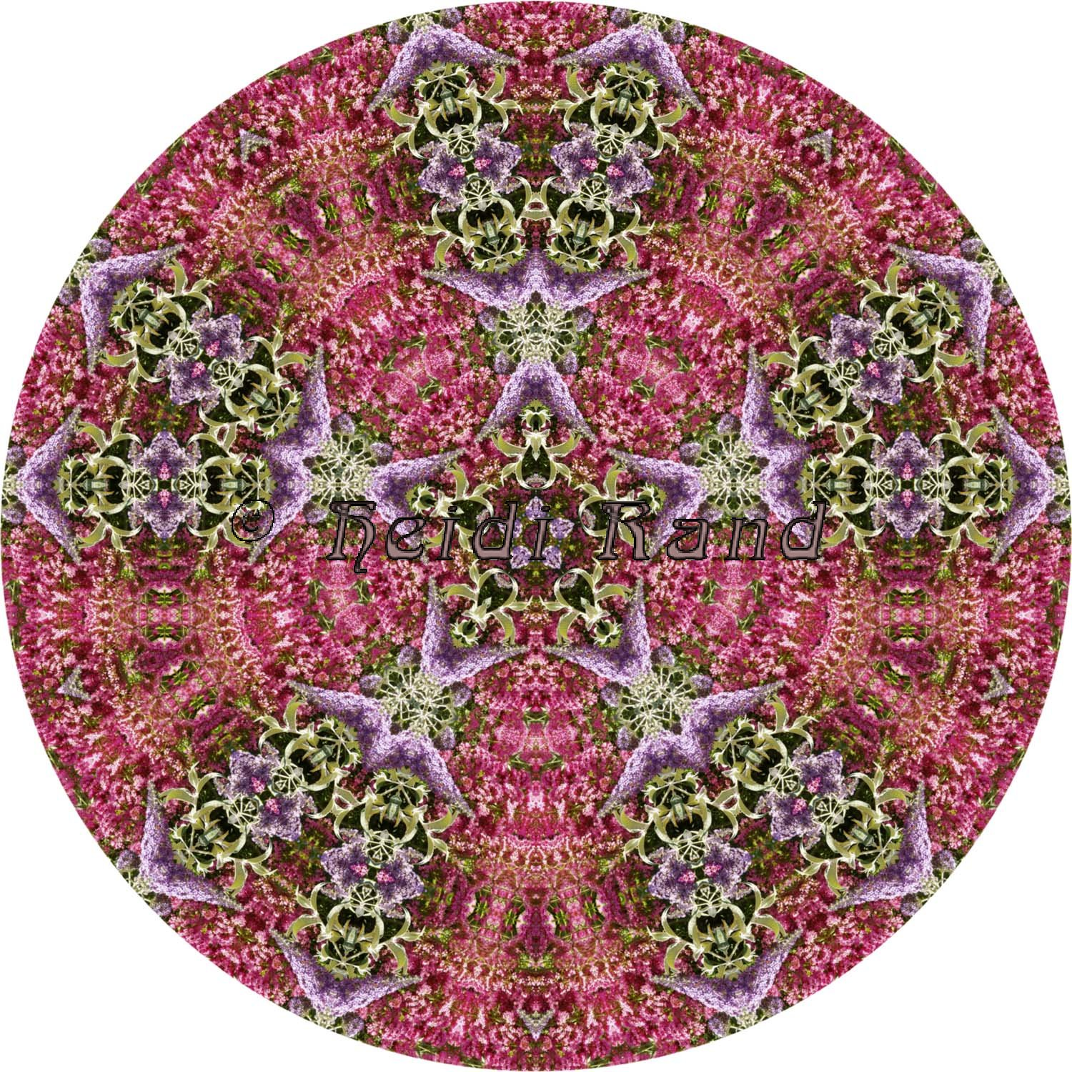 Buddleia and wisteria mandala