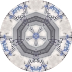 Blue design mandala
