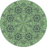 Fern circle mandala