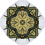 Swallowtail butterfly circle mandala