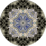 swallowtail wicker collage mandala