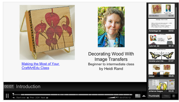 Decorating Wood With Image Transfers