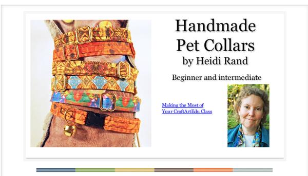 Handmade Pet Collars class