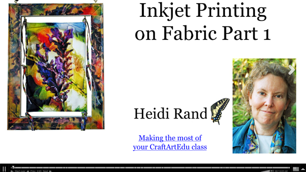 Inkjet Printing on Fabric class