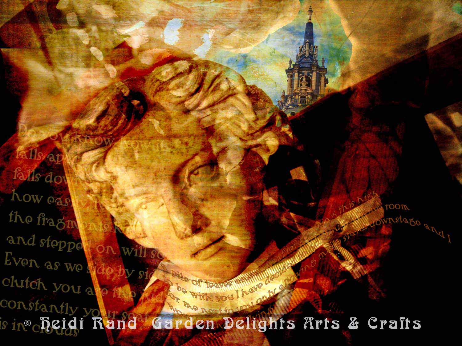 Statue Swallowtail collage