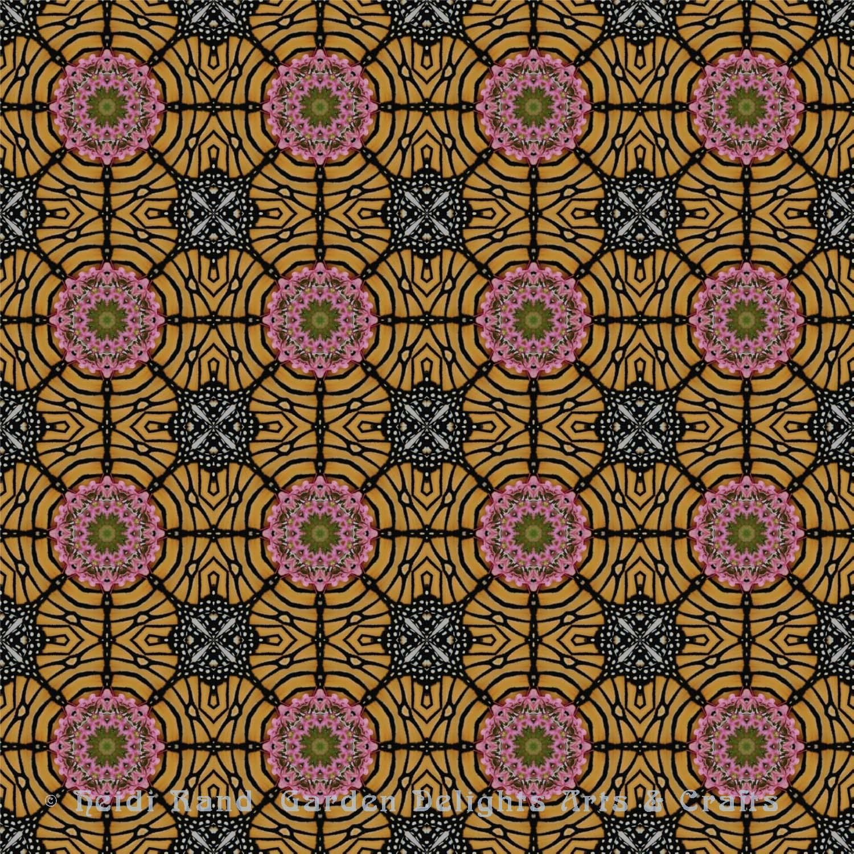Monarch with flower kaleidoscope