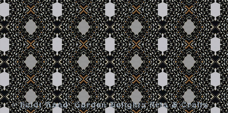 Monarch with white kaleidoscope