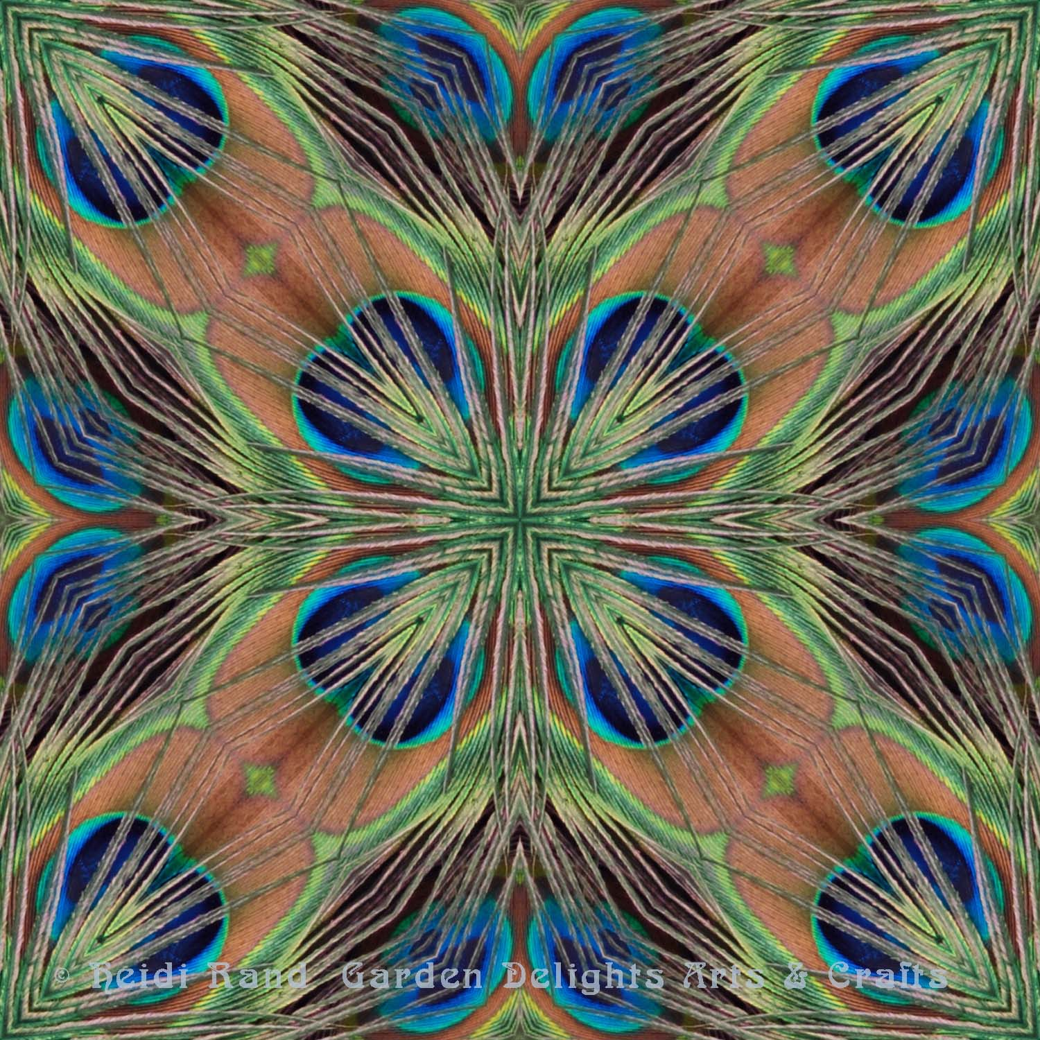Peacock feathers sheen
