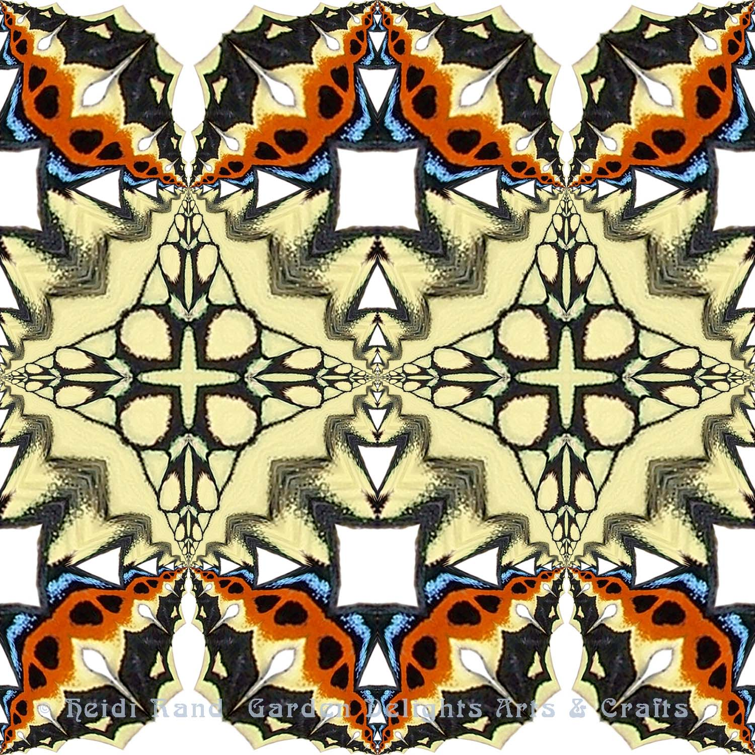Swallowtail cutout with yellow