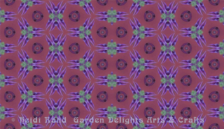 Wisteria tile kaleidoscope