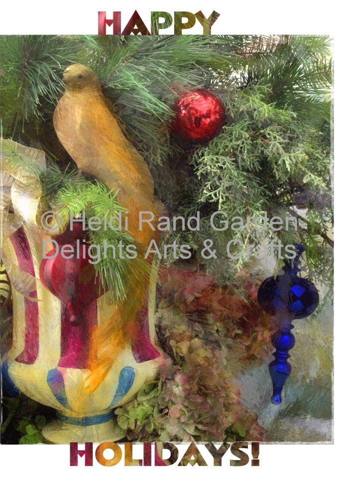 Happy holidays. Greeting card 1312