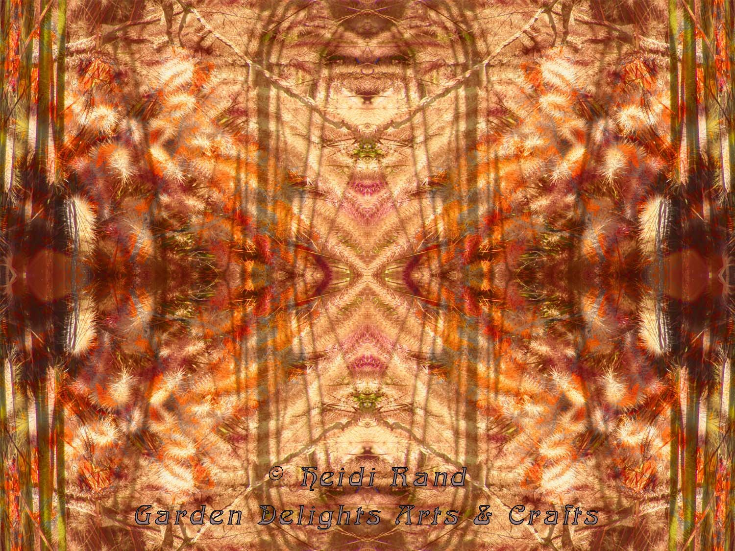 Golden collage kaleidoscope