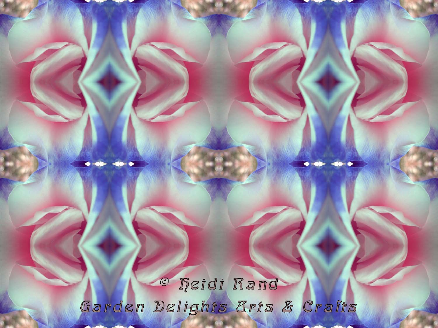 Double delight rose kaleidoscope