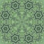 Fern square mandala