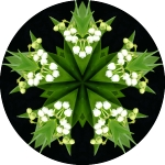 Lilies of the valley mandala
