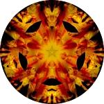 Sunflower sunset collage mandala