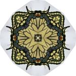 Swallowtail butterfly circle mandala