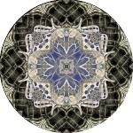 swallowtail wicker collage mandala